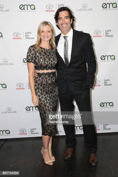 Amy Smart and Carter Oosterhouse at the Environmental Media Association's 27th Annual EMA Awards at Barkar Hangar on September 23 2017 in Santa...