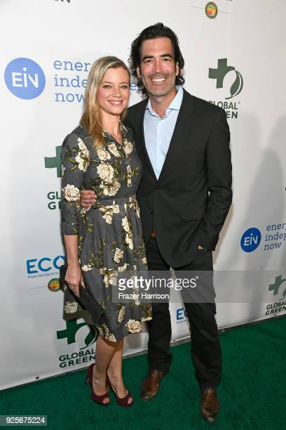 Amy Smart and Carter Oosterhouse attend the 15th Annual Global Green PreOscar Gala on February 28 2018 in Los Angeles California