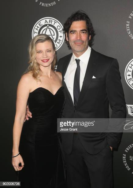 Amy Smart and Ccarter Oosterhouse attend The Art Of Elysium's 11th Annual Celebration on January 6 2018 in Santa Monica California