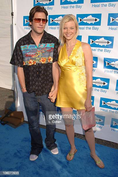 Amy Smart and guest during 'Heal the Bay Bring Back the Beach' Arrivals at Barker Hanger in Santa Monica California United States