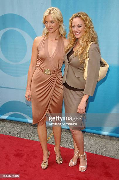 Amy Smart and Virginia Madsen during CBS 2006/2007 Upfront Red Carpet at Tavern on the Green in New York City New York United States