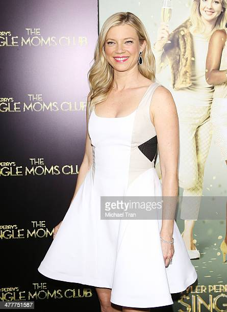 Amy Smart arrives at the Los Angeles premiere of Tyler Perry's The Single Moms Club held at ArcLight Cinemas Cinerama Dome on March 10 2014 in...