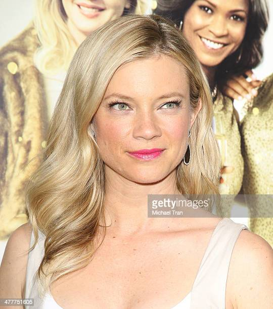 Amy Smart arrives at the Los Angeles premiere of 'Tyler Perry's The Single Moms Club' held at ArcLight Cinemas Cinerama Dome on March 10 2014 in...