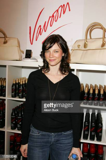 Amy Smart at Vavoom Gold Heat Salon during Vavoom Salon at 2007 Marie Claire Fashion Closet Day 2 at Four Seasons in Los Angeles California United...