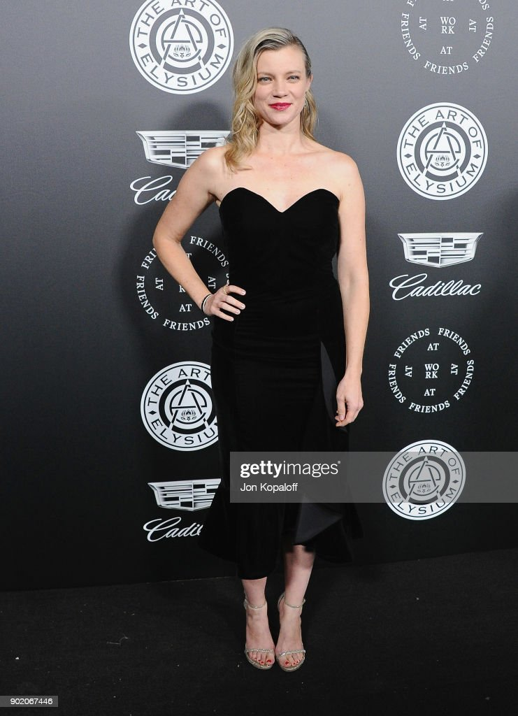 Amy Smart attends The Art Of Elysium's 11th Annual Celebration - Heaven at Barker Hangar on January 6, 2018 in Santa Monica, California.