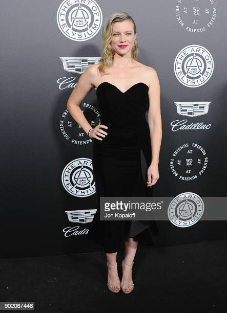 Amy Smart attends The Art Of Elysium's 11th Annual Celebration Heaven at Barker Hangar on January 6 2018 in Santa Monica California
