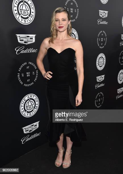 Amy Smart attends The Art Of Elysium's 11th Annual Celebration on January 6 2018 in Santa Monica California