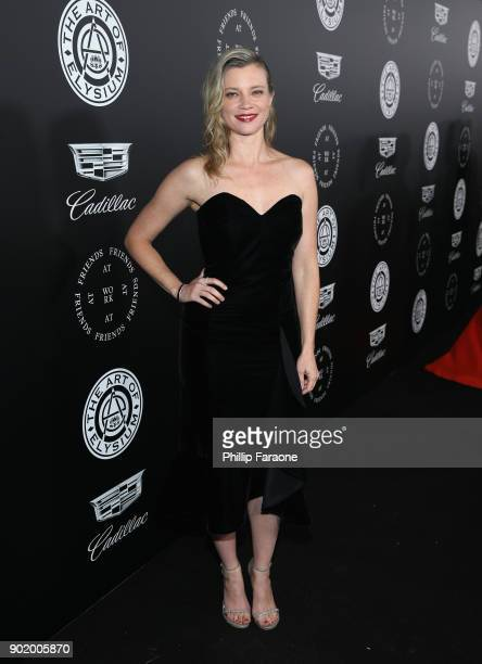 Amy Smart attends The Art Of Elysium's 11th Annual Celebration with John Legend at Barker Hangar on January 6 2018 in Santa Monica California