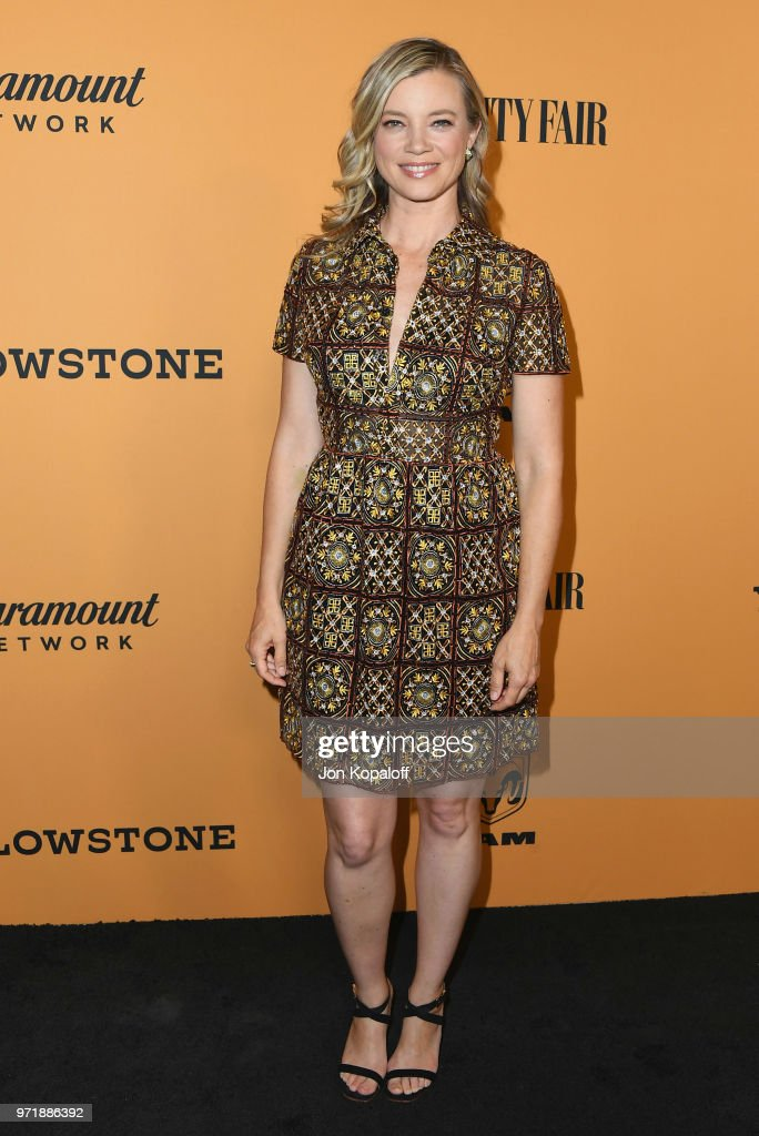Amy Smart attends the premiere of Paramount Pictures' 'Yellowstone' at Paramount Studios on June 11, 2018 in Hollywood, California.