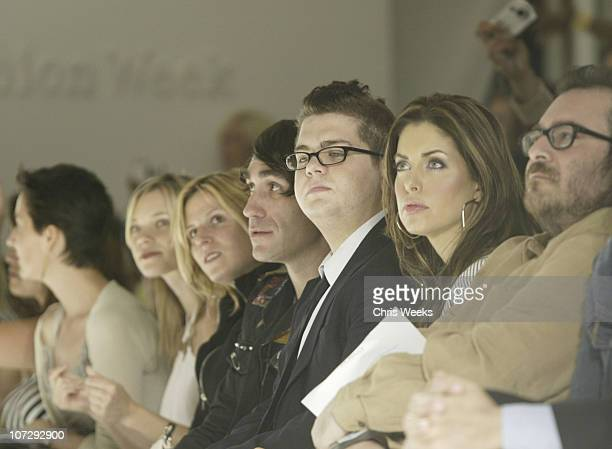 Amy Smart Brent Bolthouse and Jack Osbourne during MercedesBenz Fall 2004 Fashion Week at Smashbox Studios Custo Barcelona Front Row at Smashbox...