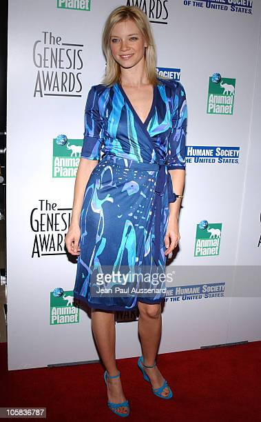 Amy Smart during 20th Anniversary Genesis Awards Arrivals at Beverly Hilton in Beverly Hills California United States
