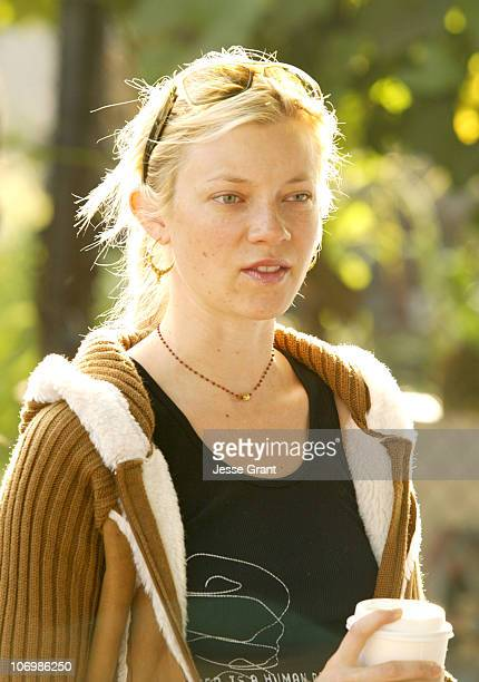 Amy Smart during Daryl Hannah Protests the Closing of South Central Los Angeles Farm June 1 2006 in Los Angeles California United States