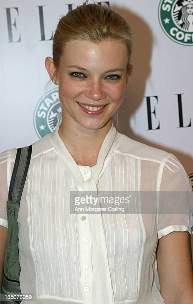 Amy Smart during ELLE 1st Green Issue Launch Party Arrivals at Pacific Design Center in West Hollywood California United States