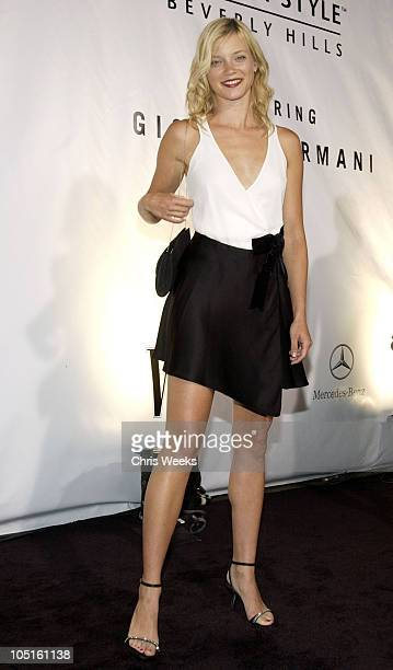 Amy Smart during Giorgio Armani Receives The First Rodeo Drive Walk Of Style Award Arrivals at Rodeo Drive Walk Of Style in Beverly Hills California...