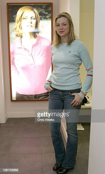 Amy Smart during Grand Reopening of Lacoste Boutique on Rodeo Drive at Lacoste Boutique in Beverly Hills California United States