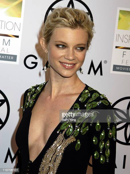 Amy Smart during Peaceful Warrior Los Angeles Screening Arrivals and Inside at Laemmle Santa Monica in Santa Monica California United States