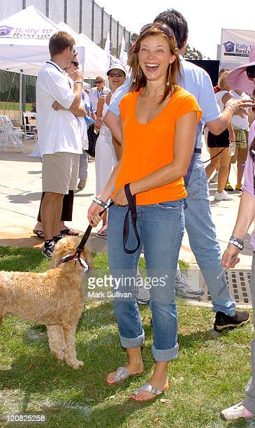 Amy Smart during Purina's Rally To Resuce 2005 Purple Carpet at Barrington Recreational Center in Brentwood California United States