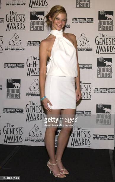 Amy Smart during The 17th Annual Genesis Awards Pressroom at The Beverly Hilton in Beverly Hills California United States