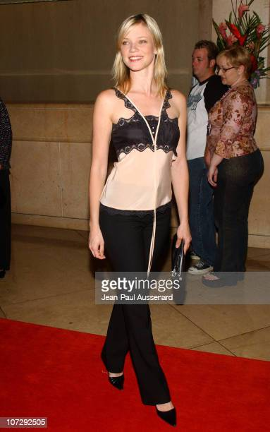 Amy Smart during The 18th Annual Genesis Awards and 50th Anniversary of the Humane Society of the United States Arrivals at Beverly Hilton in Beverly...
