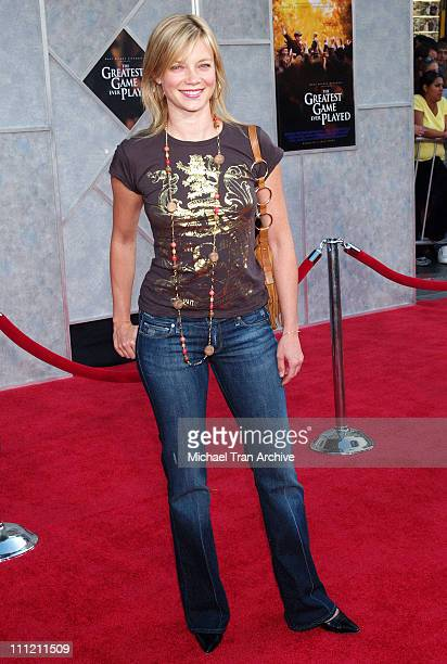 Amy Smart during The Greatest Game Ever Played Los Angeles Premiere Arrivals at El Capitan Theater in Los Angeles California United States