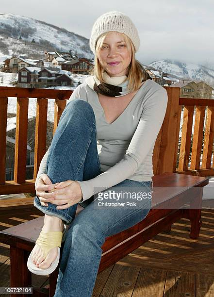 Amy Smart with Hush Puppies during The North Face Hush Puppies New Era Caps Avion Atkins Lather Invigor 8 and Crest White Strips at Deer Valley...