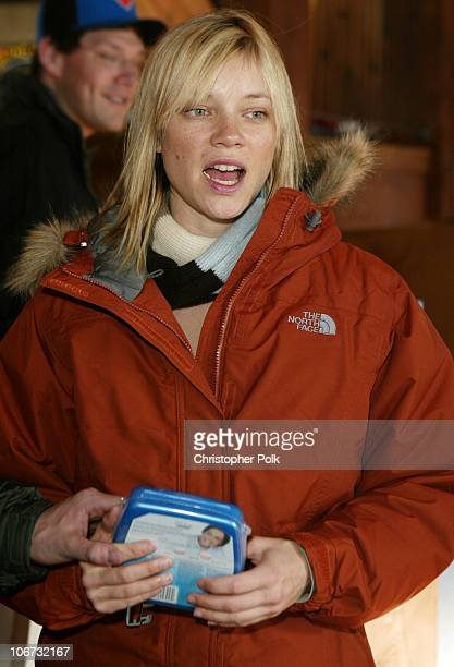 Amy Smart with The North Face and Crest White Strips *Exclusive*