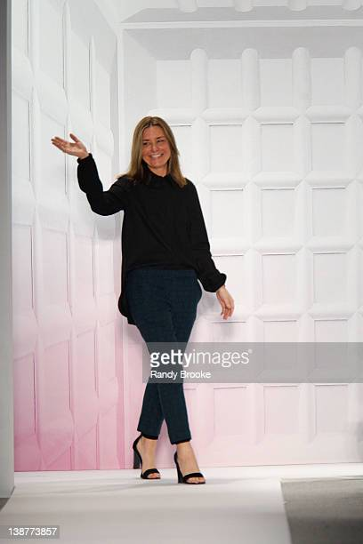 Amy Smilovic attends the runway at the Tibi Fall 2012 fashion show during MercedesBenz Fashion Week at The Stage at Lincoln Center on February 11...