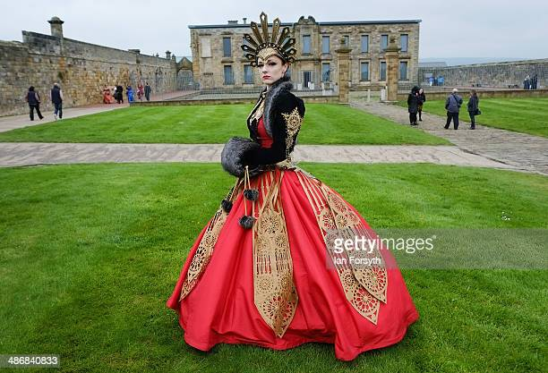 Amy Smith from Cheshire poses for a picture during the Goth weekend on April 26, 2014 in Whitby, England. The Whitby Goth weekend began in 1994 and...