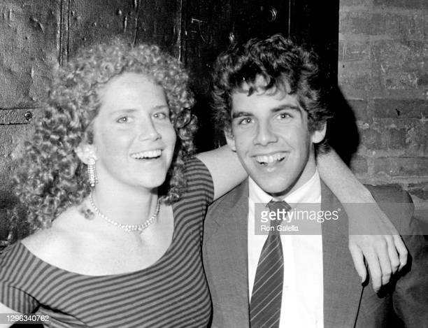 Amy Stiller and Ben Stiller attend Second Generation Party at Studio 54 in New York City on September 16, 1983.