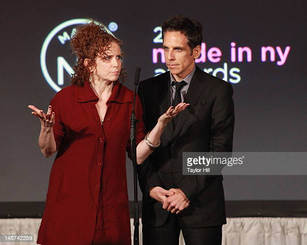 Amy Stiller and Ben Stiller present Stiller and Meara with the lifetime acheivement award at the 2012 Made In NY Awards at Gracie Mansion on June 4...