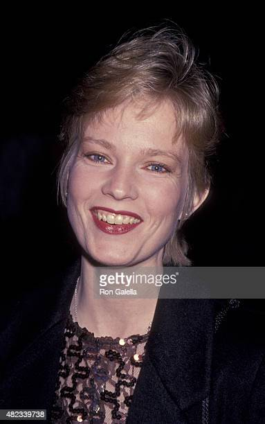 Amy StockPoynton attends Scopus Awards Gala on January 29 1993 at the Beverly Hilton Hotel in Beverly Hills California