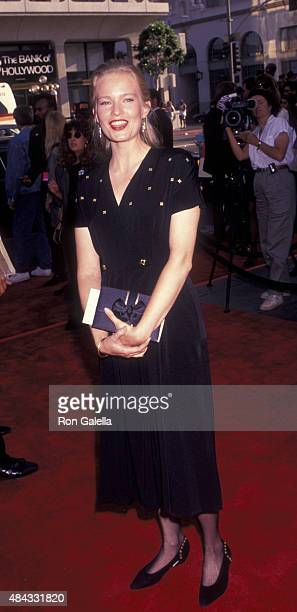 Amy StockPoynton attends the premiere party for 'Bill and Ted's Bogus Journey' on July 18 1991 at Hollywood Palladium in Hollywood California
