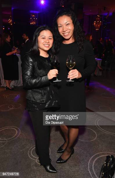 Amy Stratton and Sophie Chen attend the Lincoln Center Alternative Investment Industry Gala on April 16 2018 at The Rainbow Room in New York City