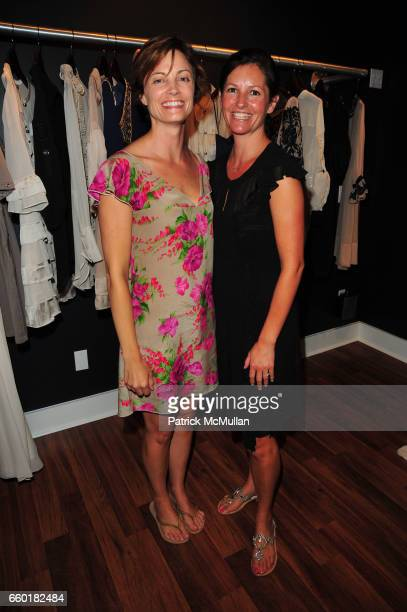 Amy Sutter and Kelly Burns attend TEMPERLEY London and CHRISTY TURLINGTON host Shop For CARE at Temperley East Hampton NY on July 18 2009