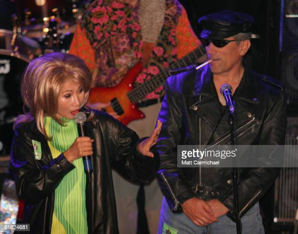 Amy Tan performs her husband and The Rock Bottom Remainders at Chicago's House of Blues on October 28 2004 in Chicago Illinois