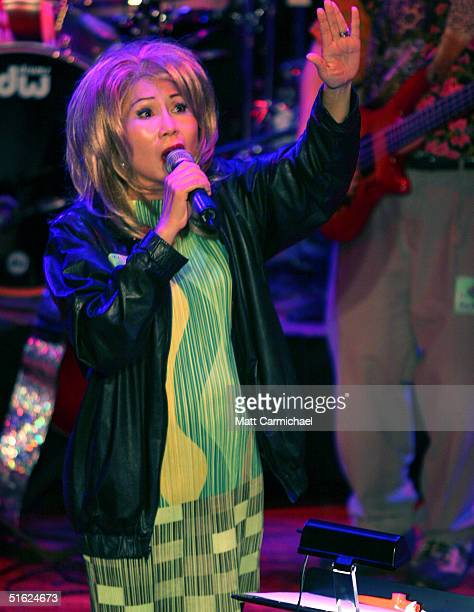 Amy Tan performs with The Rock Bottom Remainders at Chicago's House of Blues on October 28 2004 in Chicago Illinois