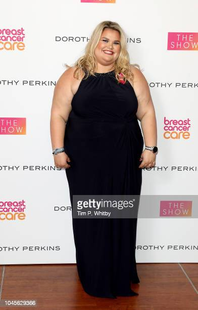 Amy Tapper attends the Breast Cancer Care London Fashion Show in association with Dorothy Perkins at Park Plaza Westminster Bridge Hotel on October 4...