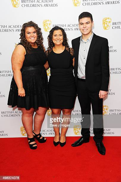 Amy Tapper Nikki Tapper and Josh Tapper attend the British Academy Children's Awards at The Roundhouse on November 22 2015 in London England