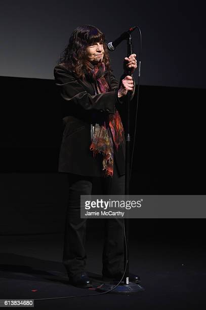 Amy Taubin speaks onstage at the 54th New York Film Festival 'My Entire High School' Premiere on October 10 2016 in New York City