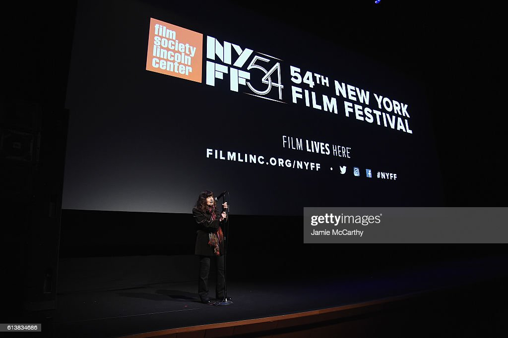 Amy Taubin speaks onstage at the 54th New York Film Festival - 'My Entire High School' Premiere on October 10, 2016 in New York City.
