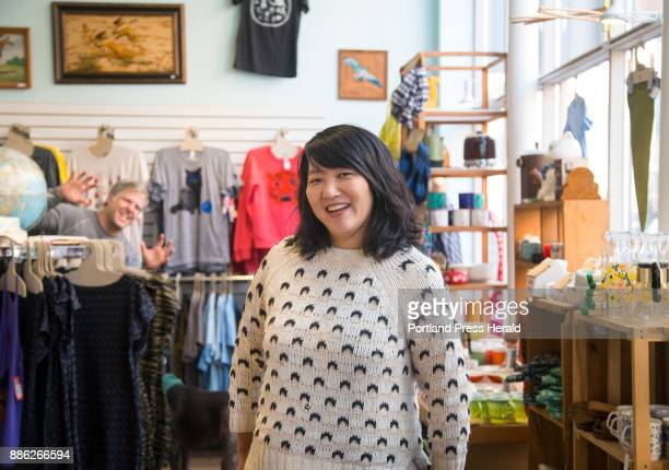 Amy Teh is one of the founders of Picnic a craft show in Portland that showcases Maine makers Popping out in the background is Noah DeFilippis Amy's...