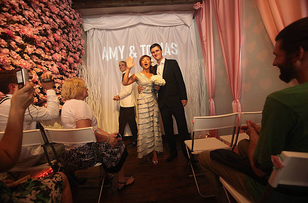 Amy Thoelen And Tobias Heusner Are Married In The Wedding Chapel At Grand