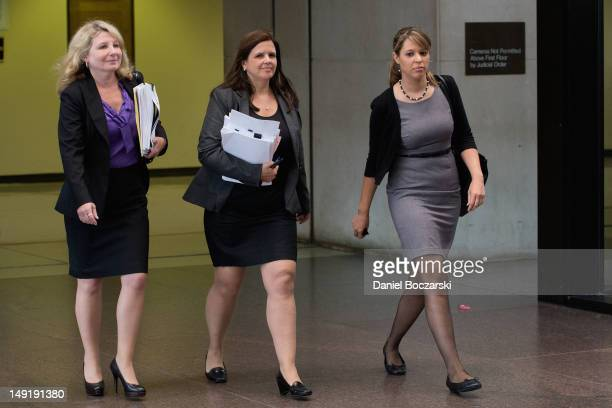 Amy Thompson and the defense team return from a hearing for William Balfour at the Cook County Criminal Courts on July 24 2012 in Chicago Illinois...