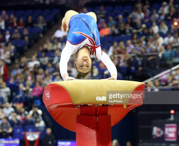 Amy Tinkler during the IPRO Sport World Cup of Gymnastics at The O2 Arena London England on 08 April 2017