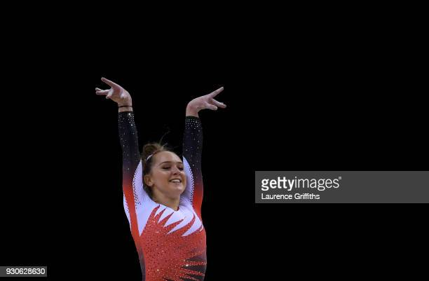 Amy Tinkler of South Essex Gymnastics Club competes on the Floor in the WAG Senior Apparatus Final during the Gymnastics British Championships at...