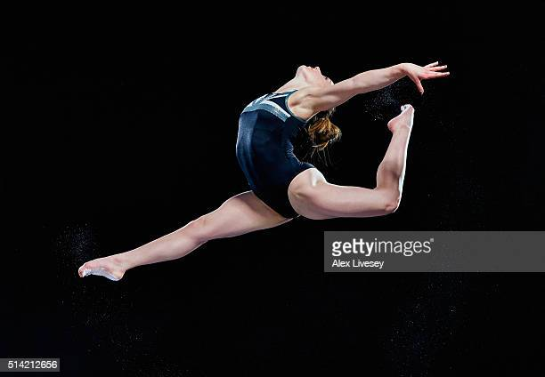 Amy Tinkler of the British Gymnastics Team poses during a portrait session at Lilleshall National Sports Centre on February 11 2016 in Shropshire...