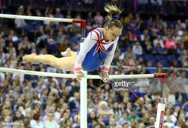 Amy Tinkler on Uneven Bars during the IPRO Sport World Cup of Gymnastics at The O2 Arena London England on 08 April 2017