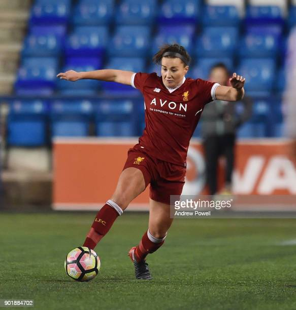 Amy Turner of Liverpool Ladies during the FA Women's Super League match between Liverpool Ladies and Yeovil Town Ladies at Select Security Stadium on...