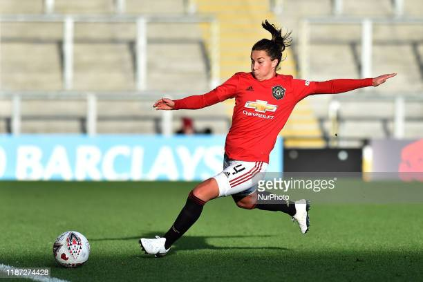 Amy Turner of Manchester United Women in action during the Barclays FA Women's Super League match between Manchester United and Everton at Leigh...