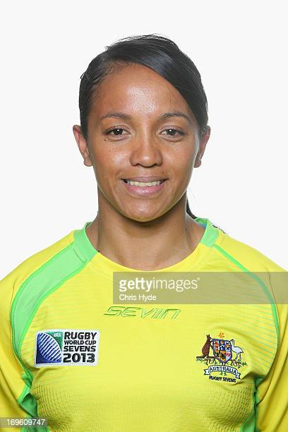 Amy Turner of the Australian Women's Rugby World Cup Sevens poses during a headshot session on May 29 2013 in Gold Coast Australia